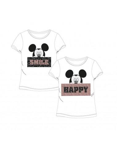 Dámské triko s měnícími flitry Minnie Mouse - bílé