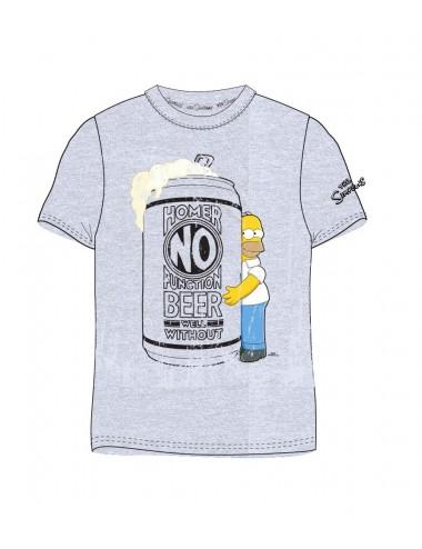 Pánské triko s kr. rukávem Simpsonovi - šedé