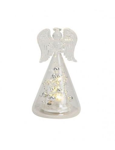 LED svítící skleněný anděl