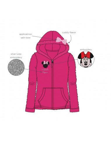 Mikina na zip s kapucí Minnie Mouse - růžová