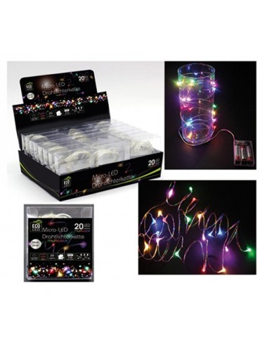 LED svítící řetěz - barevný