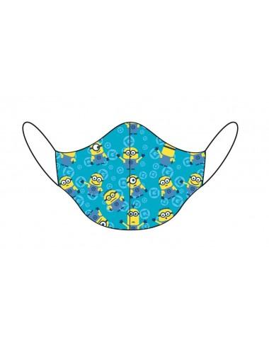 Dětská rouška Mimoni - modrá