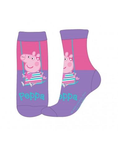 Ponožky Prasátko Peppa - fialové