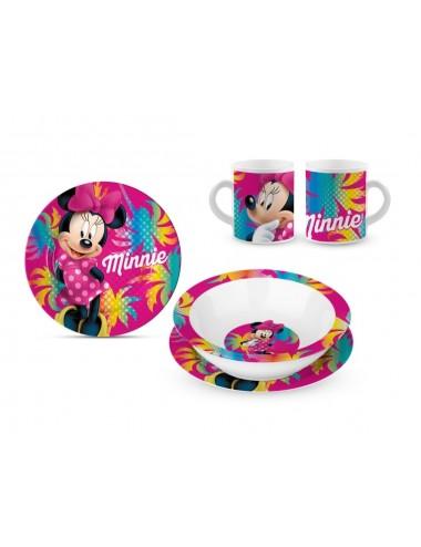 Keramická sada nádobí Minnie Mouse - růžová