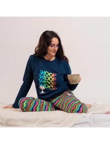 Pyžamo s dl. rukávem + kalhoty Snoopy