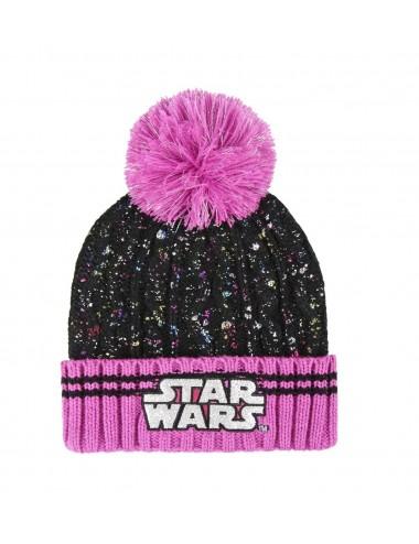Zimní čepice Star wars - černo-růžová