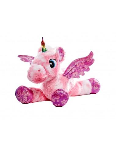 VELKÁ plyšová hračka - jednorožec (růžový)