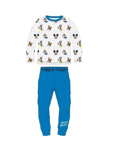 Pyžamo s dl. rukávem + kalhoty Mickey Mouse - modrá