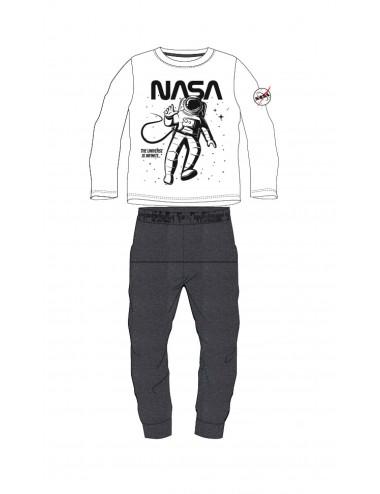 Pyžamo s dl. rukávem + kalhoty NASA - šedo-bílá