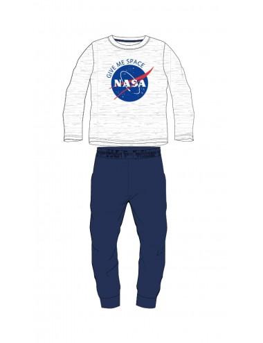 Pyžamo s dl. rukávem NASA - šedo-modrá