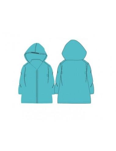 Jednobarevná pláštěnka - tyrkysová