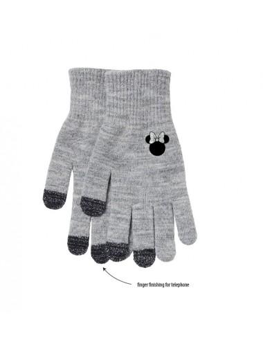 Rukavice Minnie Mouse - šedé (pro mobilní telefony)