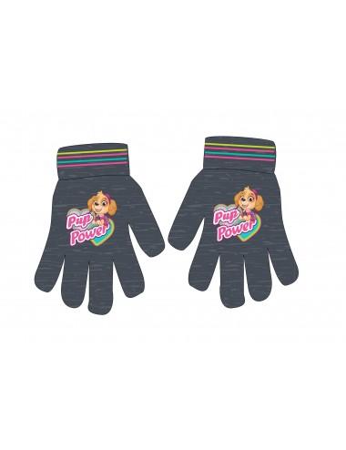 Prstové rukavice Tlapková patrola - šedé (Skye)