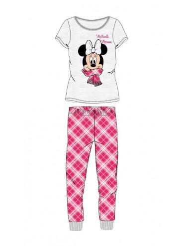 Dámské pyžamo Minnie Mouse - šedo-růžová