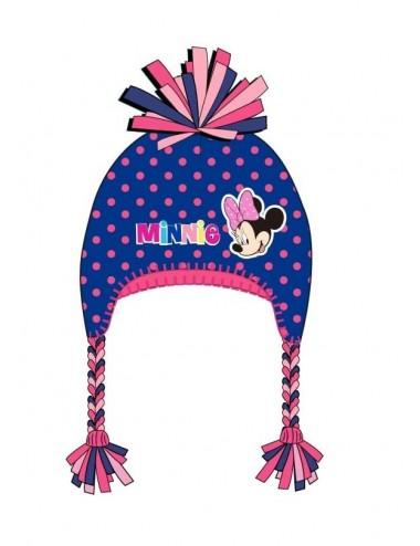 Zimní čepice Minnie Mouse - modrá