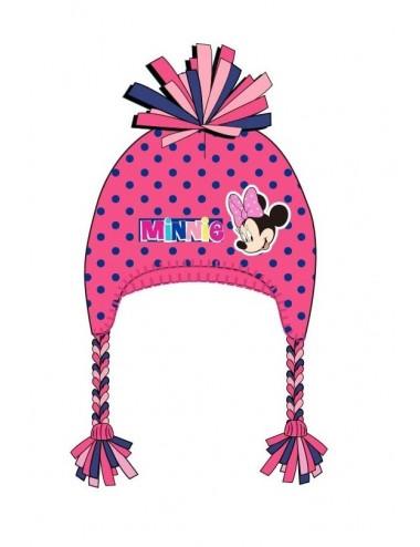 Zimní čepice Minnie Mouse - růžová