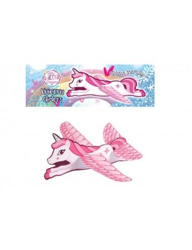 Letadlo - třpytivý jednorožec (růžový)