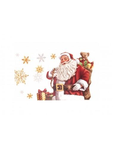 Vánoční dárková krabička - bílá se Santou