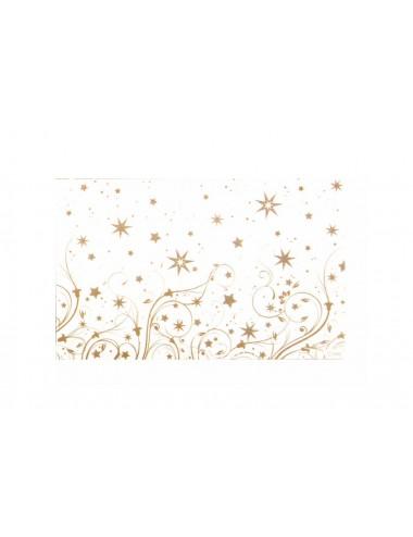 Vánoční dárková krabička - zlaté hvězdy