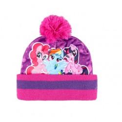 Zimní komplet - čepice, nákrčník, rukavice My little pony - růžová
