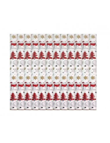 Dárkový balící papír - vánoční (Santa na saních)