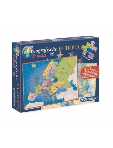 Geografické puzzle - Evropa (104 dílků)