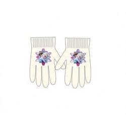 Prstové rukavice Ledové království - krémové