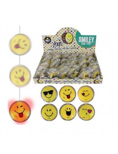 Svítící jo-jo - Smiley Emoji