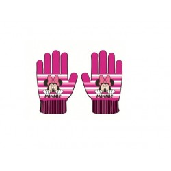 Prstové rukavice Minnie Mouse - tmavě růžové
