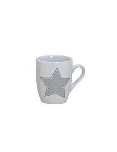 Hrnek s hvězdičkami - bílý (šedá hvězda)