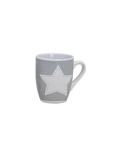 Hrnek s hvězdičkami - šedý (bílá hvězda)
