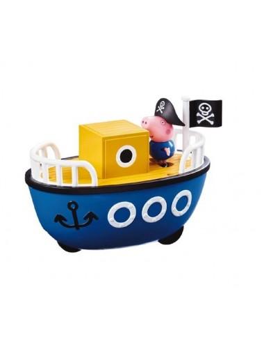 Prasátko Peppa - Loď + postavička Tom