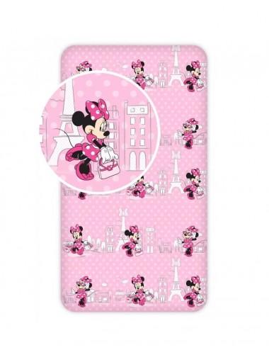 Prostěradlo na velkou postel Minnie Mouse - růžová