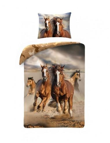 Povlečení na velkou postel koně + pytlík