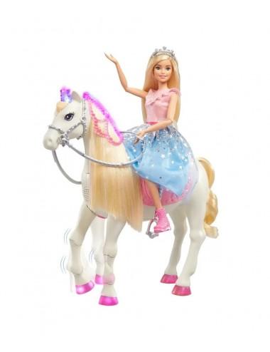 Barbie a pohyblivý kůň (se světly a zvuky)