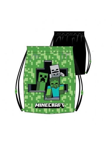 Pytlík Minecraft - černo-zelený
