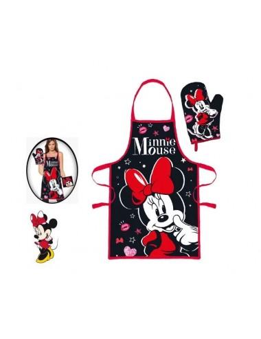Dámská kuchařská zástěra + rukavice Minnie Mouse