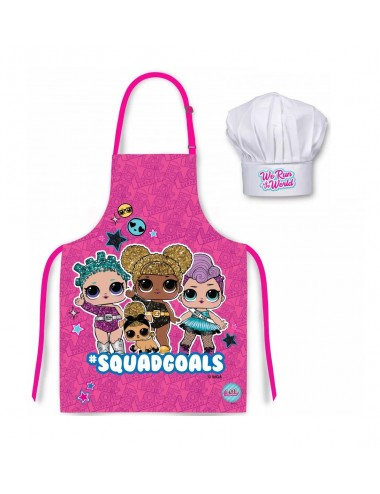 Dětská kuchařská zástěra + čepice L.O.L.