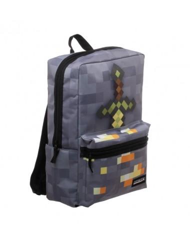 Batoh Minecraft - šedý