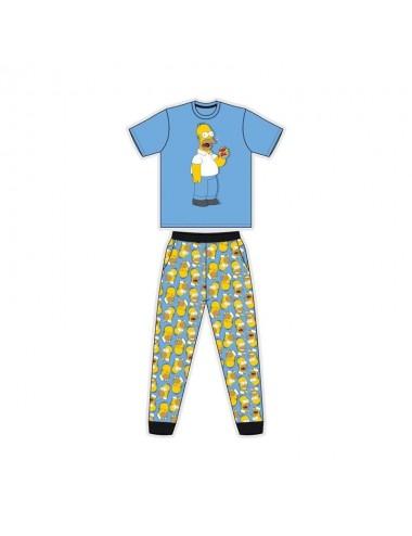 Pánské pyžamo s kr. rukávem + kalhoty Simpsonovi (Homer)