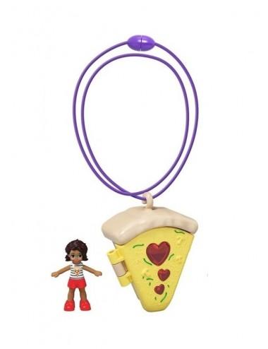 Kapesní domeček s Polly panenkou - náhrdelník PIZZA