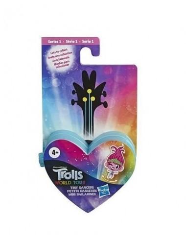 Trollové 2: Světové turné - taneční figurka + brýle - MODRÉ SRDÍČKO