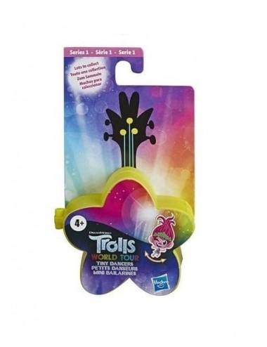 Trollové 2: Světové turné - taneční figurka + brýle - ŽLUTÁ HVĚZDIČKA