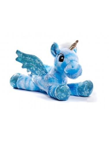 VELKÁ plyšová hračka - jednorožec (modrý)