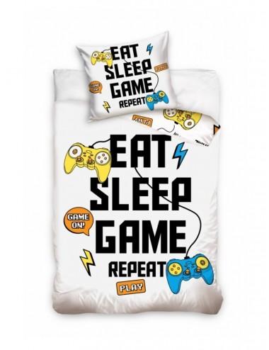 """Povlečení na velkou postel PlayStation """"Jíst, spát, hrát - opakovat"""""""