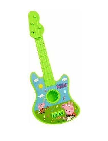 Dětská plastová kytara Prasátko Peppa - zelená