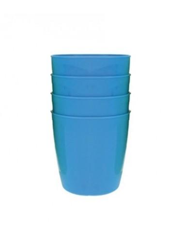 Sada plastových pohárků - modrá