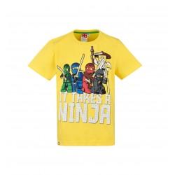 Triko s krátkým rukávem Lego Ninjago - žluté