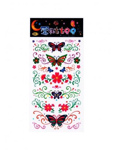 Tetovačky - květiny & motýlci