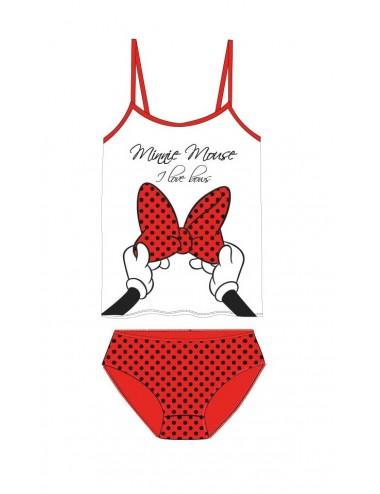 Set tílko + kalhotky Minnie Mouse - červená